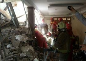 ریزش آوار کارگاه ساختمانی در شوش