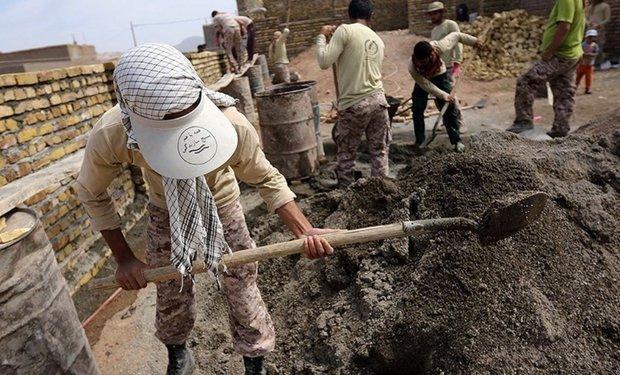 حضور گروه های جهادی در مناطق محروم صحنه