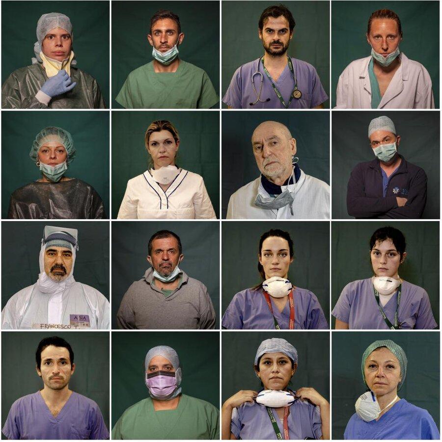 عکس روز ، صورت های بدون ماسک