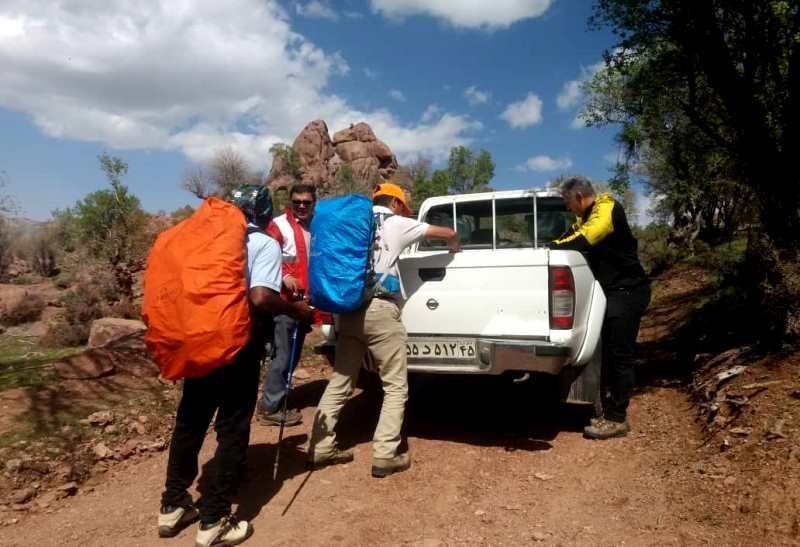 خبرنگاران مرد گمشده در کوه های جبالبارز جیرفت نجات یافت